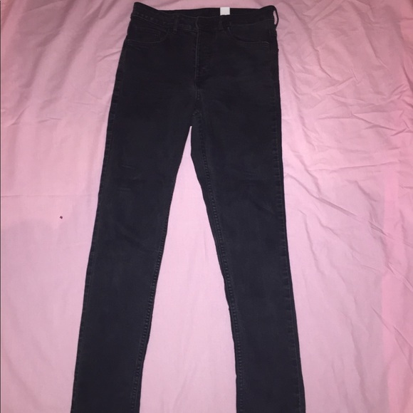 H&M Denim - H&M black high waisted Jeans. Size 26 or 4.